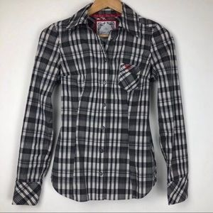 Guess Plaid Button Down Shirt Size XS
